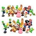 """(18 unids/set) Super Mario Bros 18 unids 1 """"-2.5"""" yoshi dinosaurio de juguete Figura Super mario yoshi figuras PVC al por menor"""