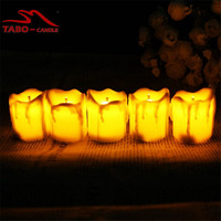 12Pcs Led Flameless Tealight Candles Electric LED Yellow Tealight Candle Home Decor