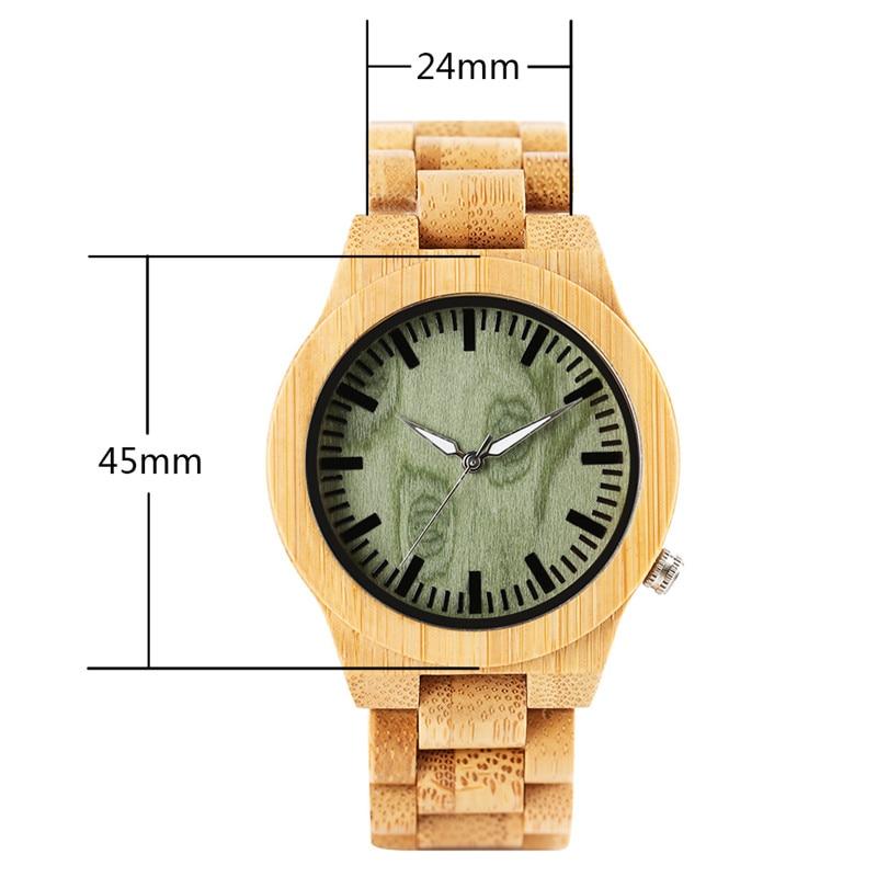 Շքեղ Բամբուկե փայտե ժամացույցներ - Տղամարդկանց ժամացույցներ - Լուսանկար 5