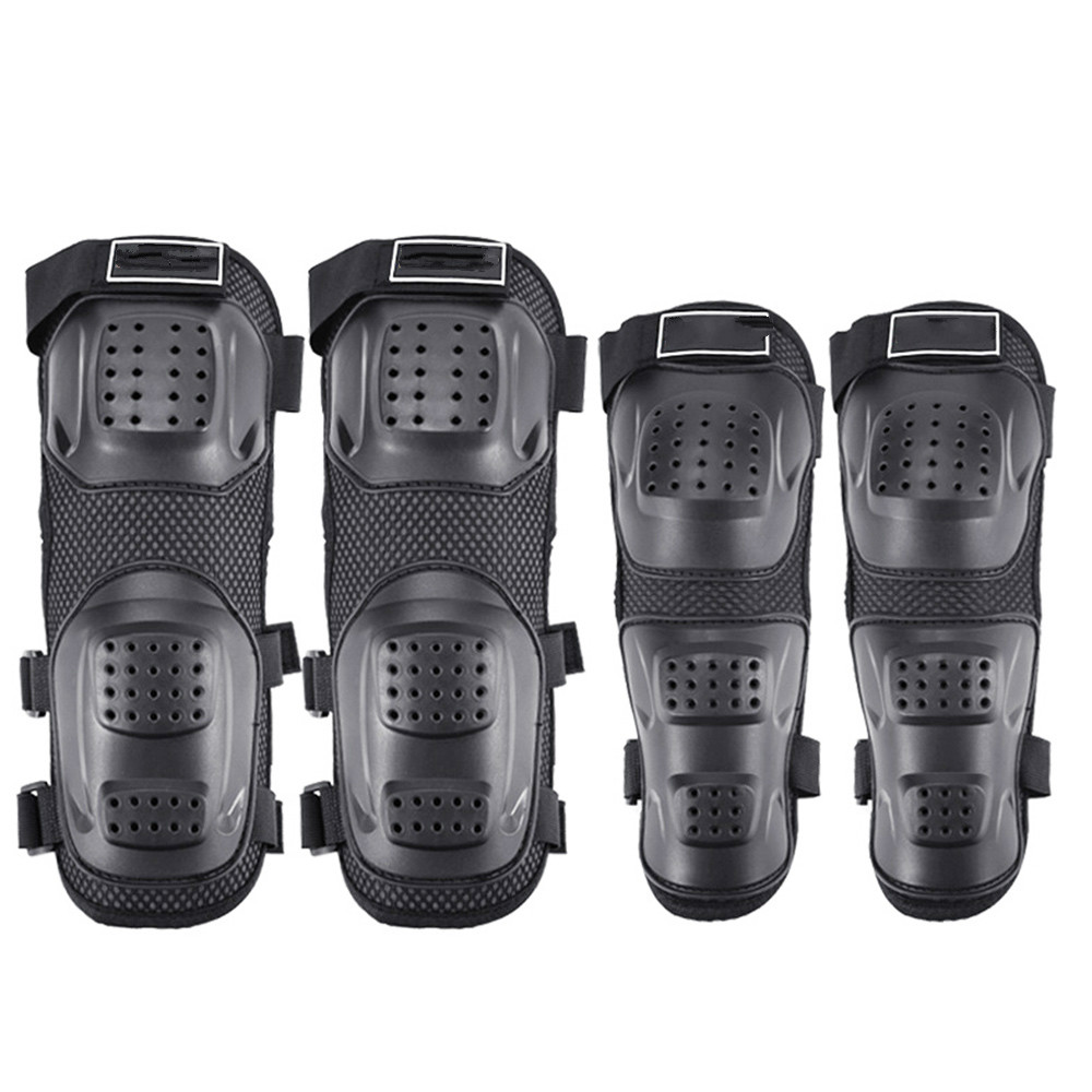 GLCC 4PCS Motorcycle Knee Pad Motocross Kneepads Elbow Protector Mountain Bike Riding Outdoor Sport Safety Protective Gears