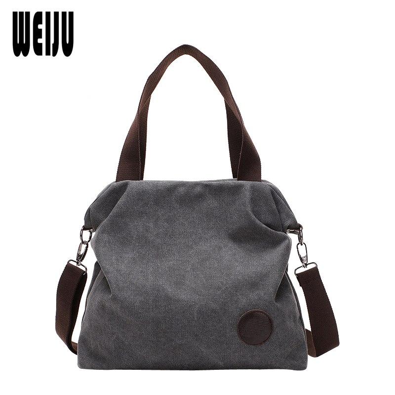 Bag Vintage Canvas Handbags Messenger Bags Bolsos Mujer De Marca Famosa Handbag Shoulder Bags