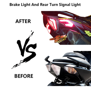 Image 5 - For Tmax 530 Led Lights Front Rear Tail Brake Light Led Turn Signal Indicators Taillight For YAMAHA Tmax 530 2012 2013 2014 2016