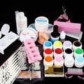 New Pro  12 Color UV Gel Nail Art Tool Kits manicure set