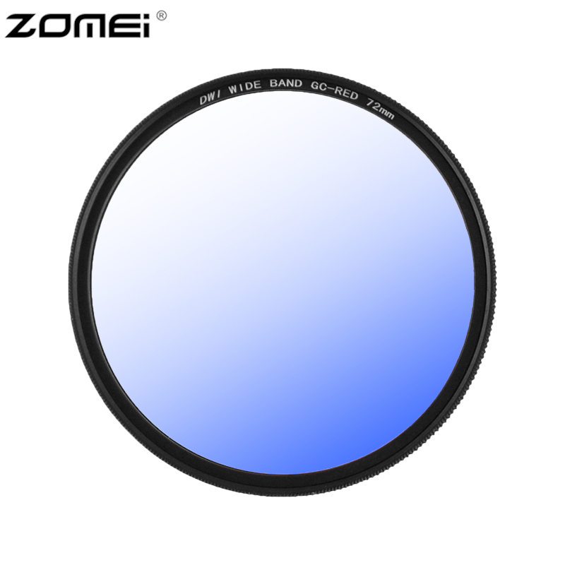 Zomei smart camera wide band Slim GC filter gradient gray filter lens kit red blue orange
