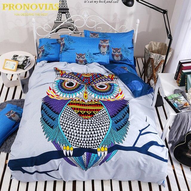 Night Tender owl boys bedding set 4pcs duvet/doona cover bed sheet ... : owl double bed quilt cover - Adamdwight.com