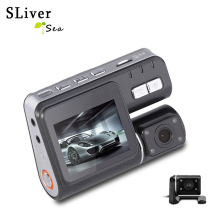 лучшая цена Dual Lens Car DVR Camera Recorder i1000s Dash Cam Black Box Full HD 1080P 140 Degree with Rear View DashCam Camcorder