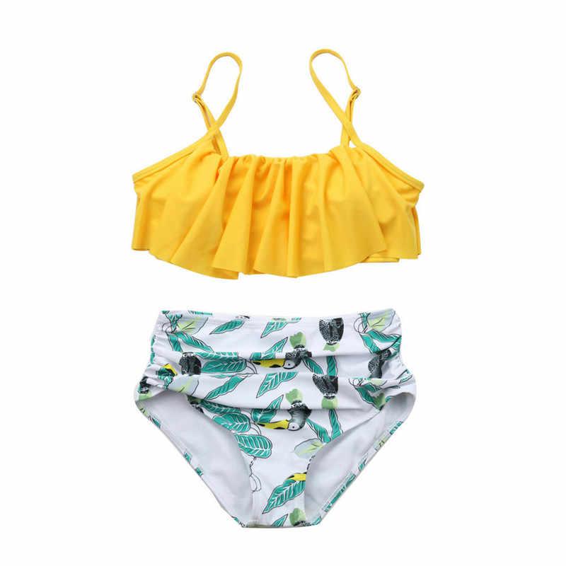 Monokini Bikiny 2019 Wanita Cetak Push-Up Bunga Surf Sesuai Rawan Baju Renang Pakaian Renang Dua Wpiece Beachwear Maillot De Bain Kecil
