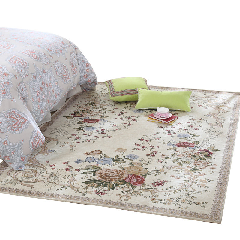 70X140CM Pastoral Countryside Carpets On The Floor Living Room Bedroom Brief Flower Carpets Coffee Table Area Rugs/Floor Mat