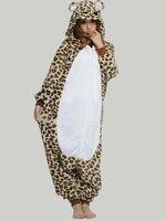 2013 NEW Leopard Bear Unisex Adult Fleece Animal Pajamas Onesie Pyjamas Animal Kigurumi Cosplay Costume Sleepwear