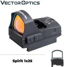 Векторная оптика дух 1x25 мини красная точка зрения Охота подходит пистолет Glock 9 мм или 21 мм Pincatinny батарея сторона вынимается