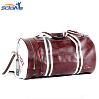 Scione Top PU Outdoor Sports Gym Bag Multifunction Fitness Shoulder Bag Travel Yoga Waterproof Sport Bags for Fitness Training