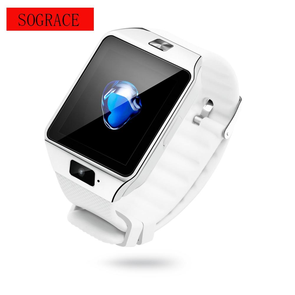 5ad48594ac4 Esportes Relógio Inteligente Com Slot Para Cartão Sim Empurre Mensagem DZ09  Conectividade Bluetooth Telefone Android Smartwatch Men Watch com Aptidão