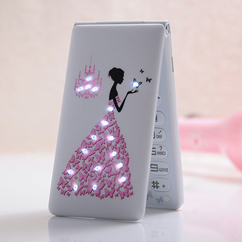 MAFAM D11 Flip Russian French Portuguese Arabic Dual SIM card women girls lady cute LED flashlight