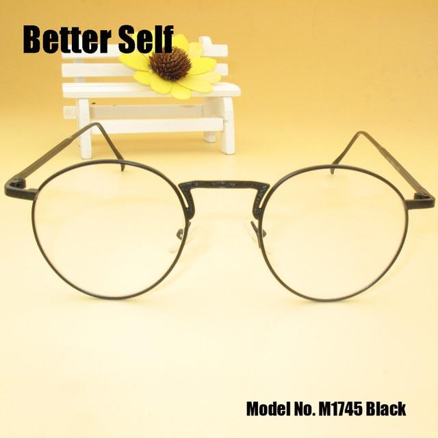 cc554ab2437 Better Self M1745 China Eyeglasses Gold Vintage Eyewear Ea7 Women Round Metal  Frame Glasses