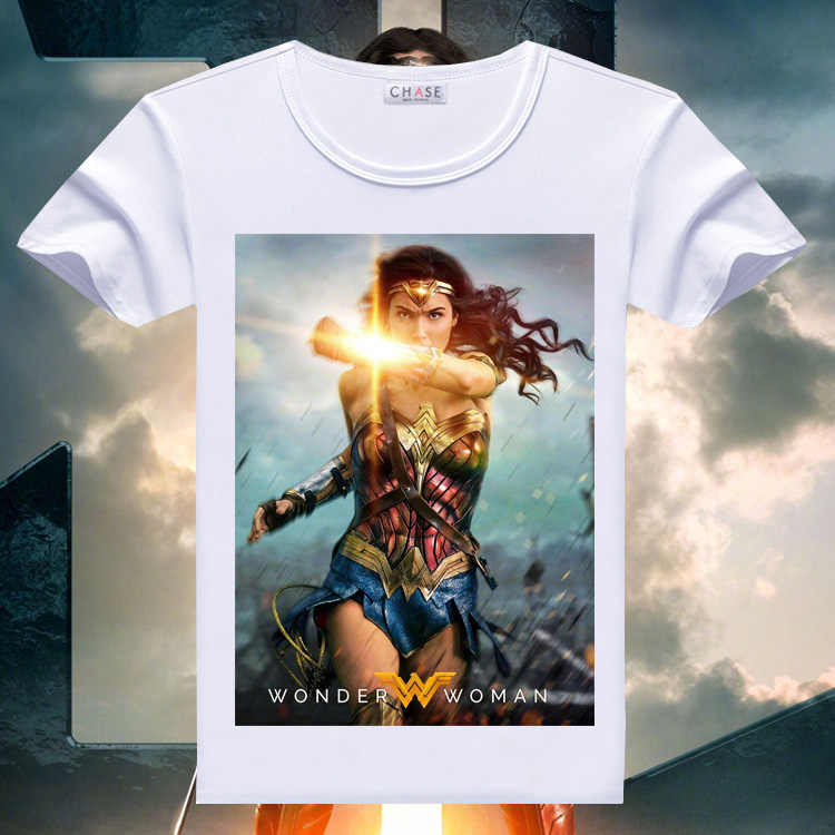 08cdc0e0 Cosplaydiy Movie Wonder Woman Printed T-Shirt Summer Women Punk Rock  Princess Comic Superhero T