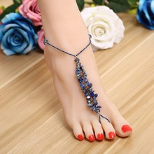 ZOSHI Brand Anklet New Ankle Bracelet Pulseras Tobilleras Colorful Stone Anklets For Women Summer Fine Jewelry Barefoot Sandals