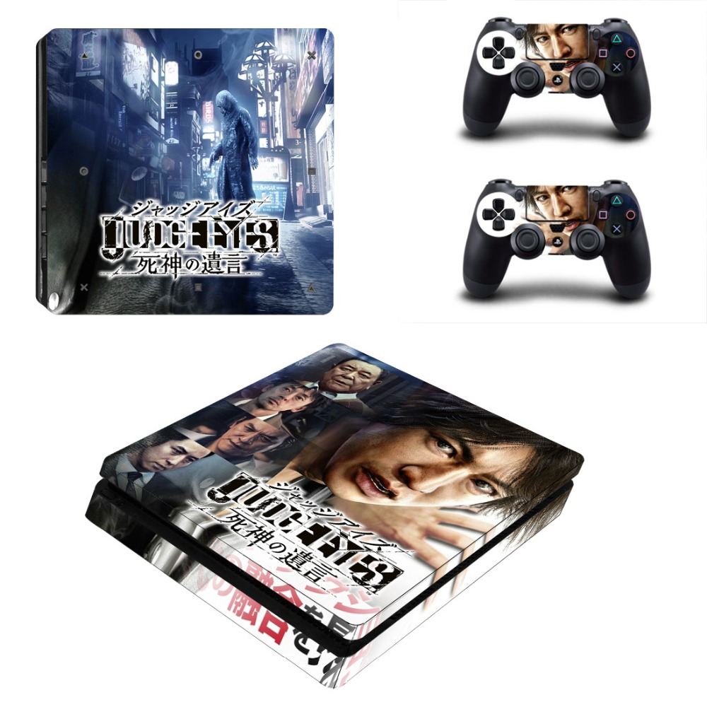 JUDGE EYES Death's last words PS4 Slim Skin Sticker Vinyl For PlayStation 4 Console and Controllers PS4 Slim Skin Stickers Decal image