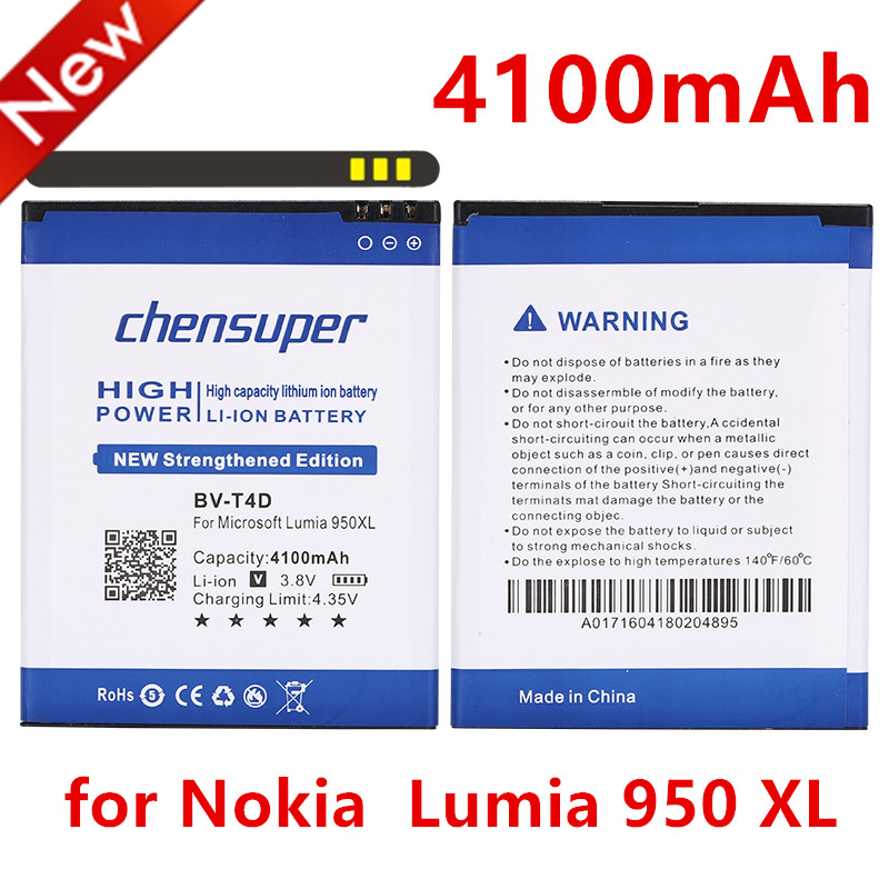 new BV-T4D 4100mAh battery for Nokia Microsoft Lumia 950 XL CityMan Lumia 940 XL RM-1118 BVT4D(China)