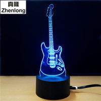 3D Led Visual Colorful USB Table Lamp Lampara Baby Sleeping Night Light Creative Fashion Music Electric