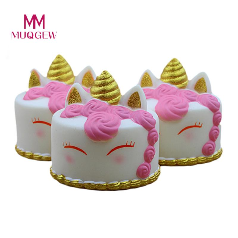 MUQGEW Kawaii Cartoon Cake Poopsie slime surprise Squishi Squishies Slow Rising Cream Scented Stress Reliever Toys Squishy best girl toys 2017