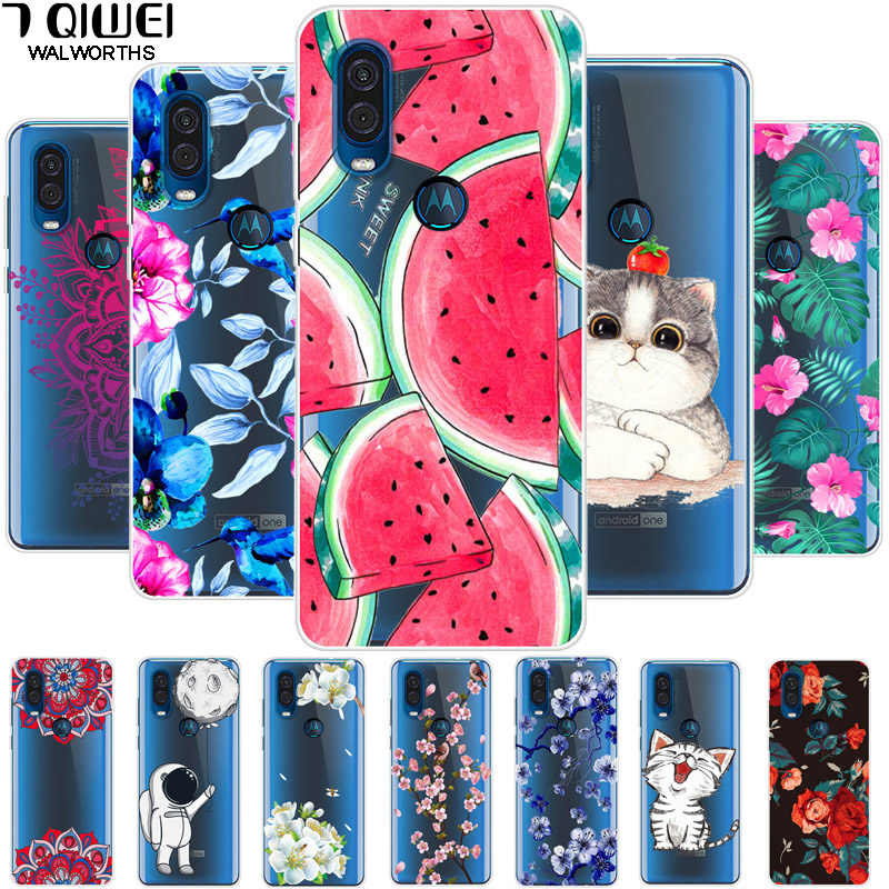 For Moto One Vision Case Silicone for Motorola One Vision Cover Soft TPU Phone Cases For MOTO One Vision OneVision XT1970 Case