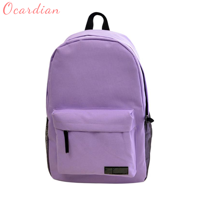 Simple Canvas Backpack Schoolbag Waterproof Breathable Backpacks For Travel Daily C0425