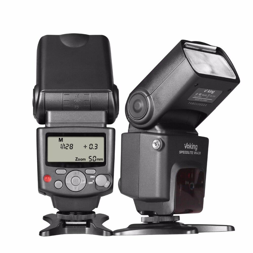 Provoke edici VK430 E-TTL LCD Ekran Speedlite Ayakkabı Dağı Flaş Standart Sıcak Ayakkabı ile Canon Eos Dijital DSLR Kamera için Standı