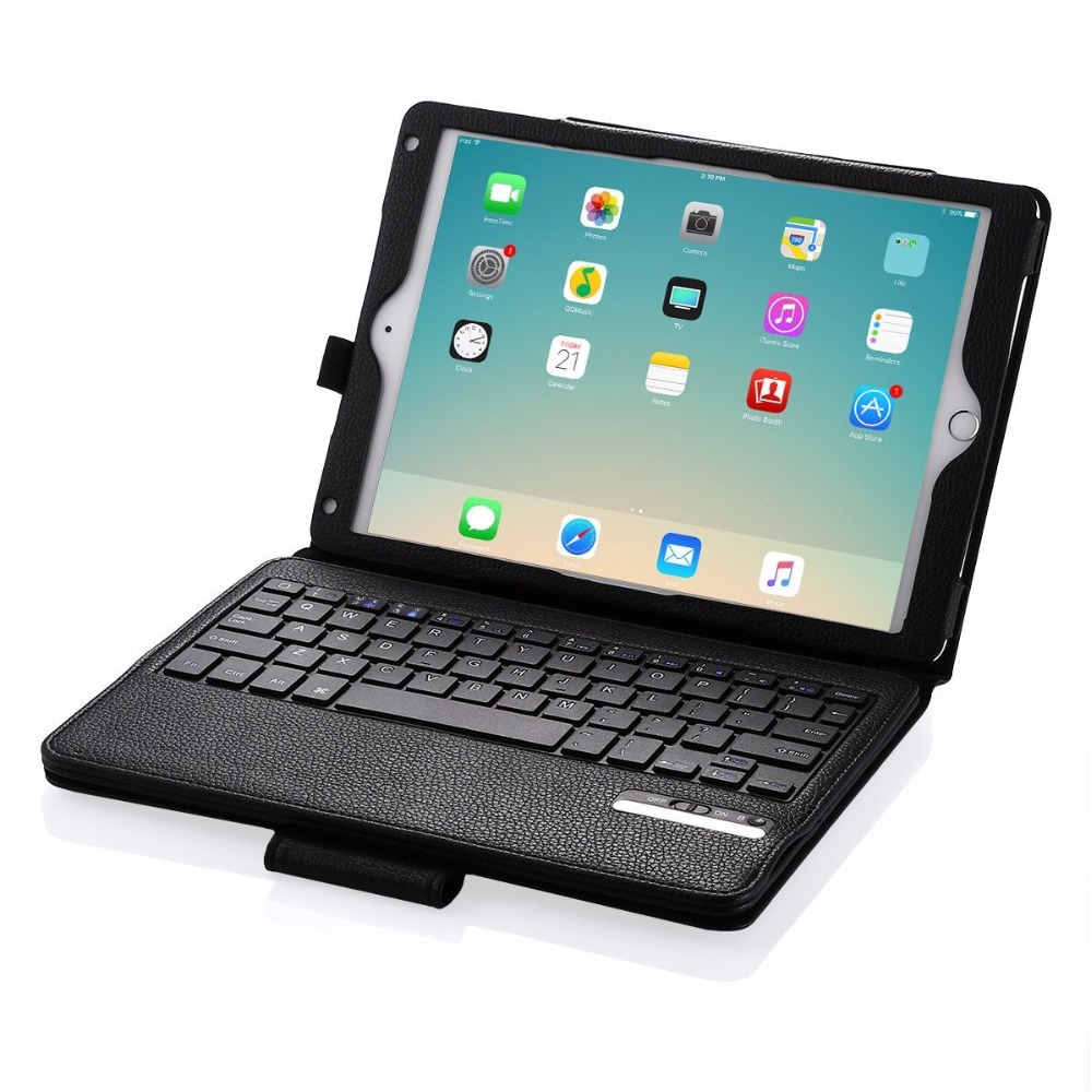 Bluetooth Keyboard Case for iPad Air 2, Removable Wireless Bluetooth Keyboard Case PU Case for iPad Air 2 Tablet Case Skin Shell universal 61 key bluetooth keyboard w pu leather case for 7 8 tablet pc black