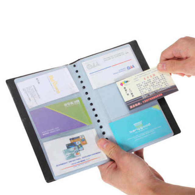 Brand new leather 120 cards business name id credit card holder book brand new leather 120 cards business name id credit card holder book case keeper organizer colourmoves