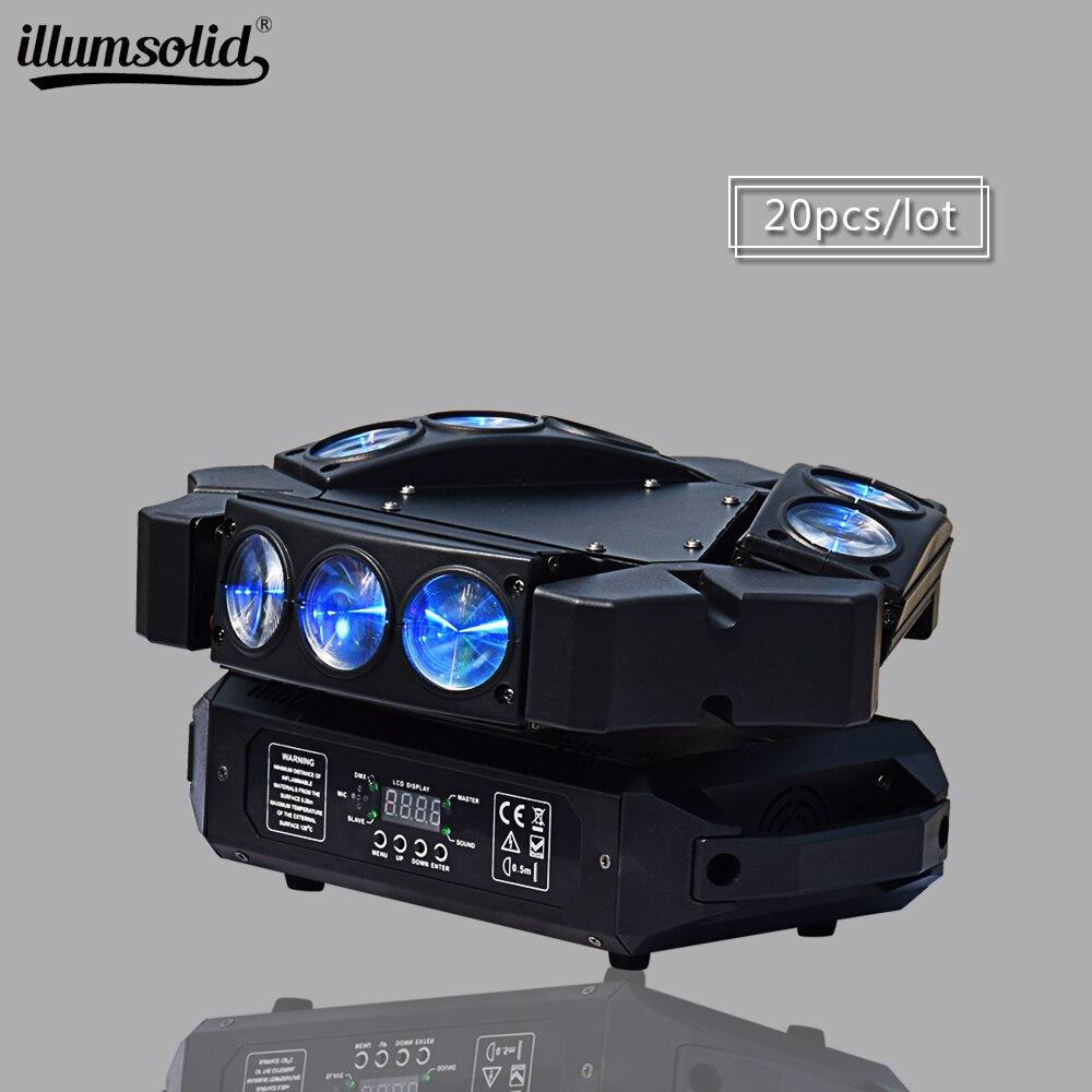 Lyre faisceau 9x12 w araignée lumière scène effet d'éclairage LED orientable spot dmx512 fête lumière 20 pcs/lot