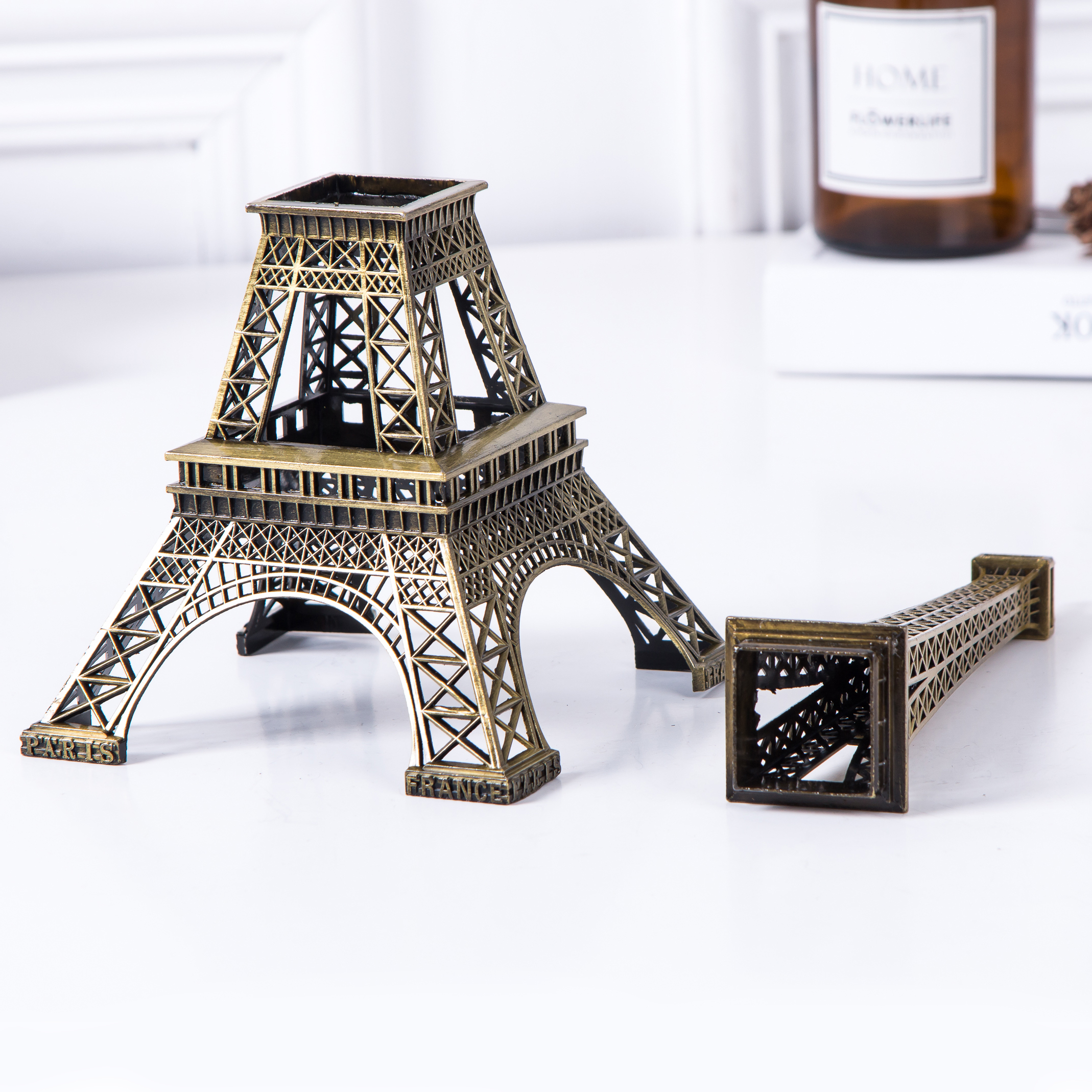 70CM Bronze Eiffel Tower Model Home Decor Vintage Metal Craft Cake Topper Wedding Activities Decoration