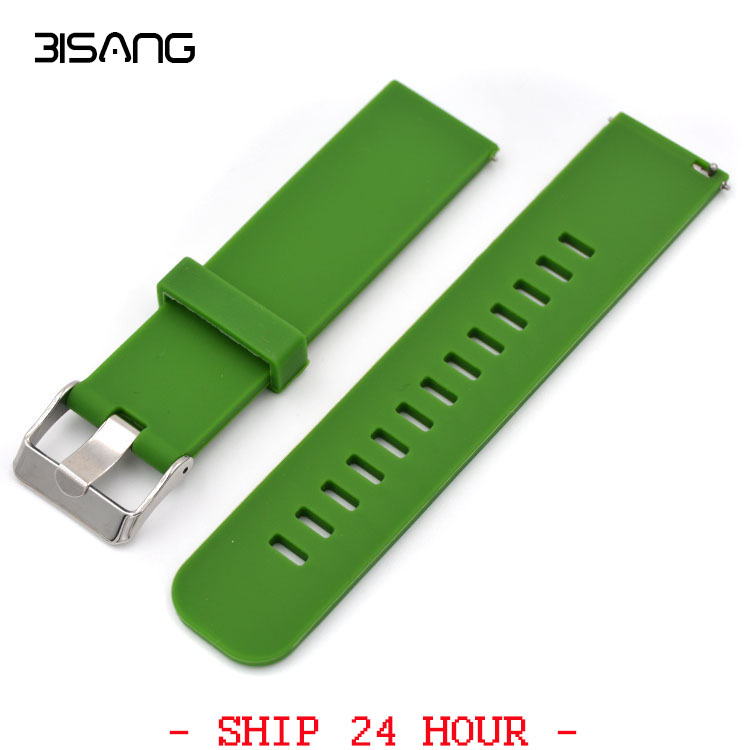 Quick Release 20mm Watch Strap Silicone Rubber for Moto 360 2 42mm 2015 Samsung Gear S2 Classic R732 & R735 Wrist Band Bracelet excellent quality 20mm quick release watch band strap for samsung galaxy gear s2 classic stainless steel strap bracelet