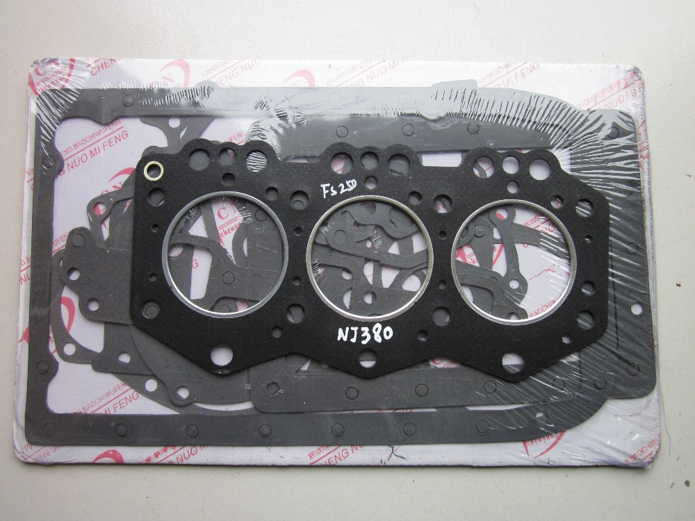 Fengshou 250 tractor with engine NJ380,  the engine gasket kit including the head gasket laidong km4l23bt for tractor like luzhong series set of piston groups with gaskets kit including the cylinder head gasket