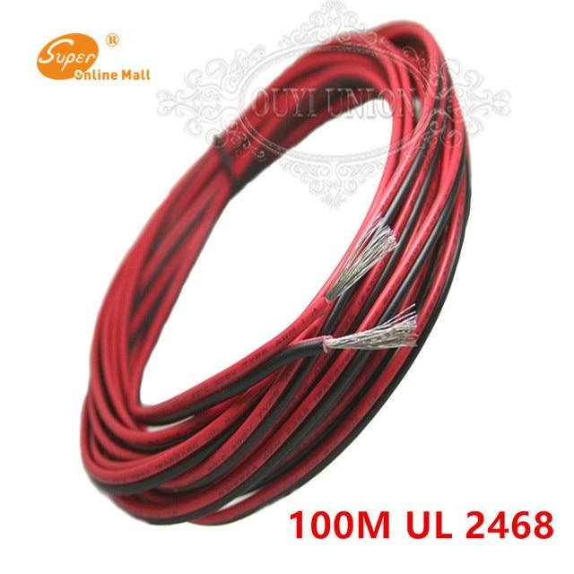 100 Meter Verzinnt kupfer 18 28AWG 2 pin Rot Schwarz kabel, pvc ...
