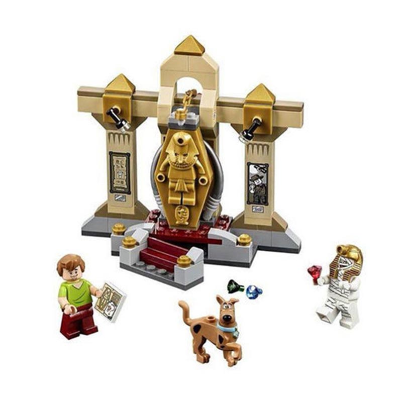 Scooby Doo Dog Mummy Museum Mystory Building Kit Toys Shaggy Dr. Najib  BELA10428 Compatible With Lxgo bela 10429 scooby doo mummy museum mysterious plane minifigures building block minifigure toys best legoelieds toys