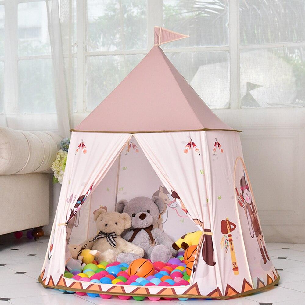 Enfants Portable Tentes Enfants maison de jeu Tente Piscine À Balles Tipi tente tipi Bébé Chambre D'anniversaire Cadeaux Photographie Props Maisonnettes - 4