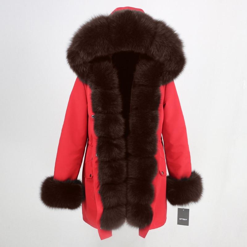 OFTBUY Waterproof Long Parka Winter Jacket Women Real Fur Coat Natural Fox Fur Collar Hood Thick Warm Streetwear Detachable New 53