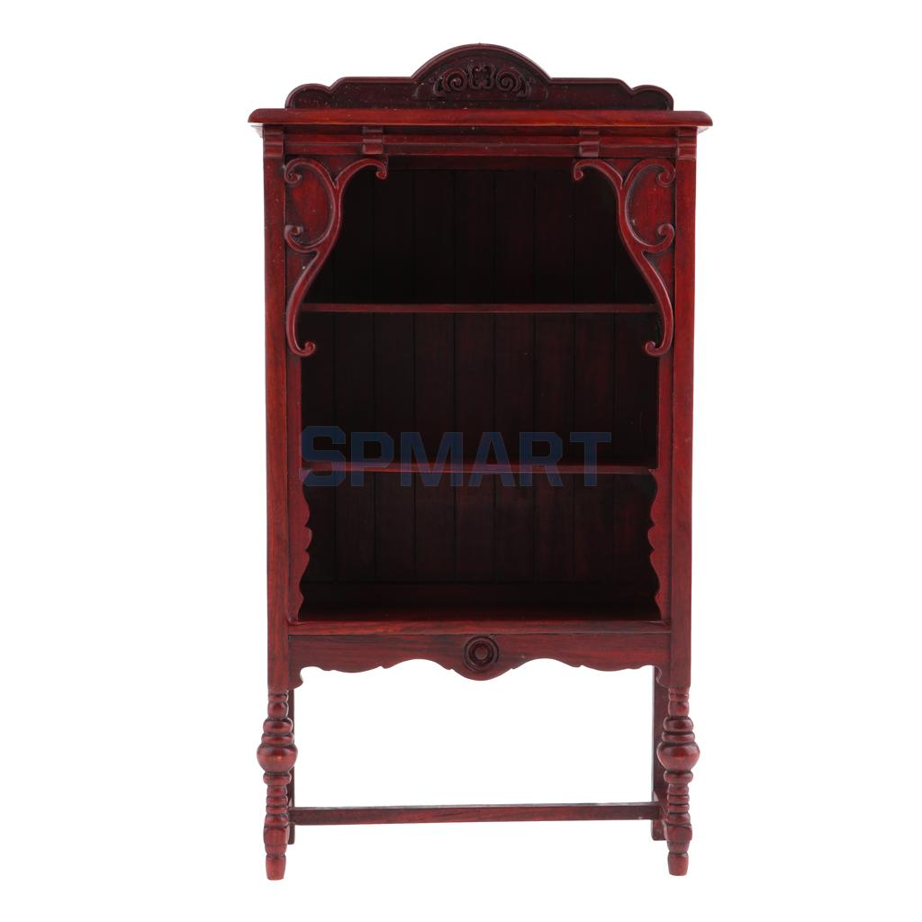 1//6 Dollhouse Miniature Annatto Cabinet Cupboard for Action Figures