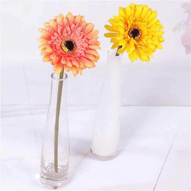 Suef 1/5 piezas de crisantemo africano Flor de boda flor artificial Flor de seda decoración para el hogar Accesorios de mesa @ 1