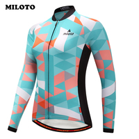 Miloto Pro Team Warm Winter Cycling Clothing Long Sleeve Thermal Fleece Cycling Jersey Road mtb Bike Jersey Race Bicycle Clothes