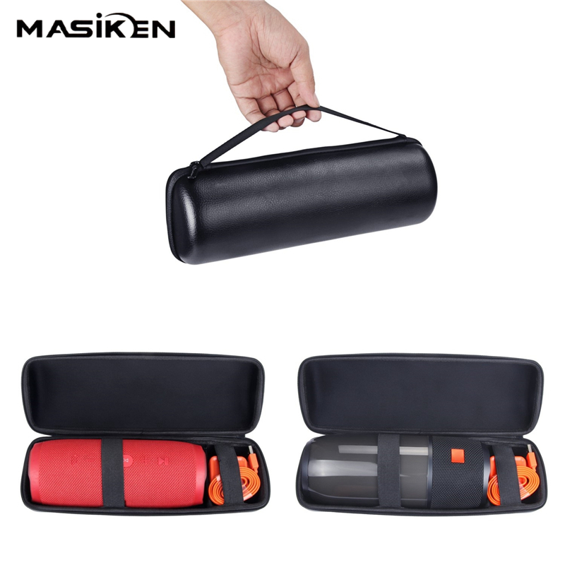 MASiKEN Portable Hard PU Carry Case For JBL Pulse 3 Speaker Storage Bag HandBag Pouch for JBL Pulse3 Charger Storage Cases