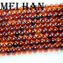 Meihan Free shipping 6 6.5mm (62 beads/strand) natural The Baltic sea Amberr round loose strand beads for jewelry making