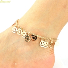 HOT Brand 1PC Womens Smile Beach Barefoot Toe Chain Link Foot Anklet Chain Jewelry 170321
