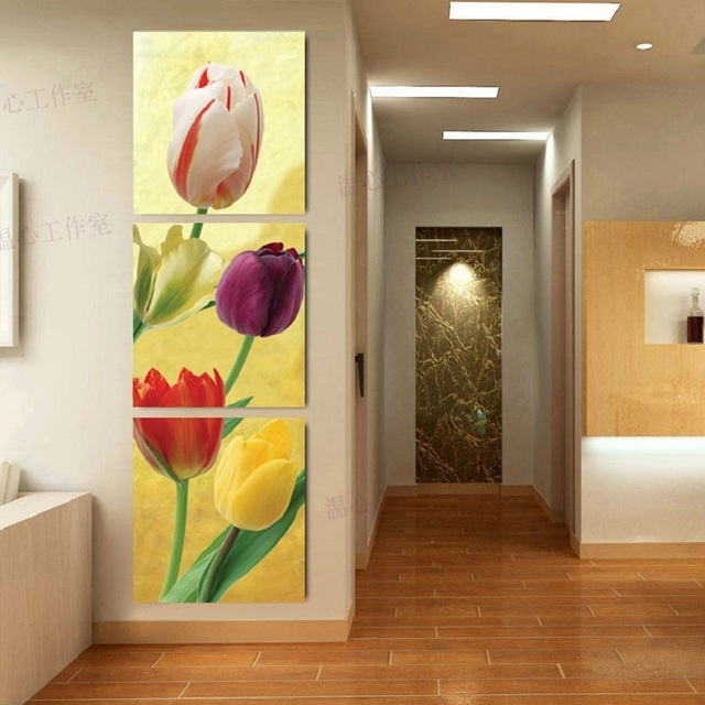 3 Pieces Canvas The Restaurant Dining Room And Hallway Oil Painting Has Framework Or Unframed Wall