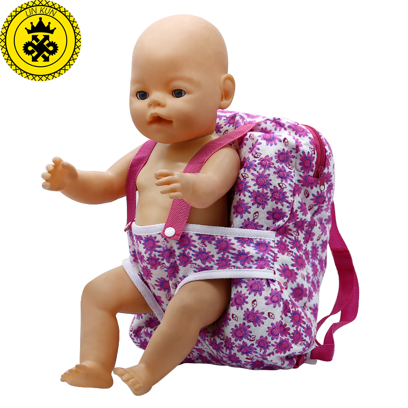 Outgoing Packets Outdoor Carrying Doll Backpack Suitable for Carrying 43cm Baby Born Zapf Doll and American Girl Doll B-2