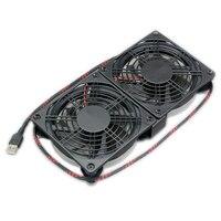 TV BOX Cooling LED Fan Silent 120mm DC 5V USB Fan Power 120*120*25mm Quiet CPU Heatsink Router Cooler Computer PC Case Radiator