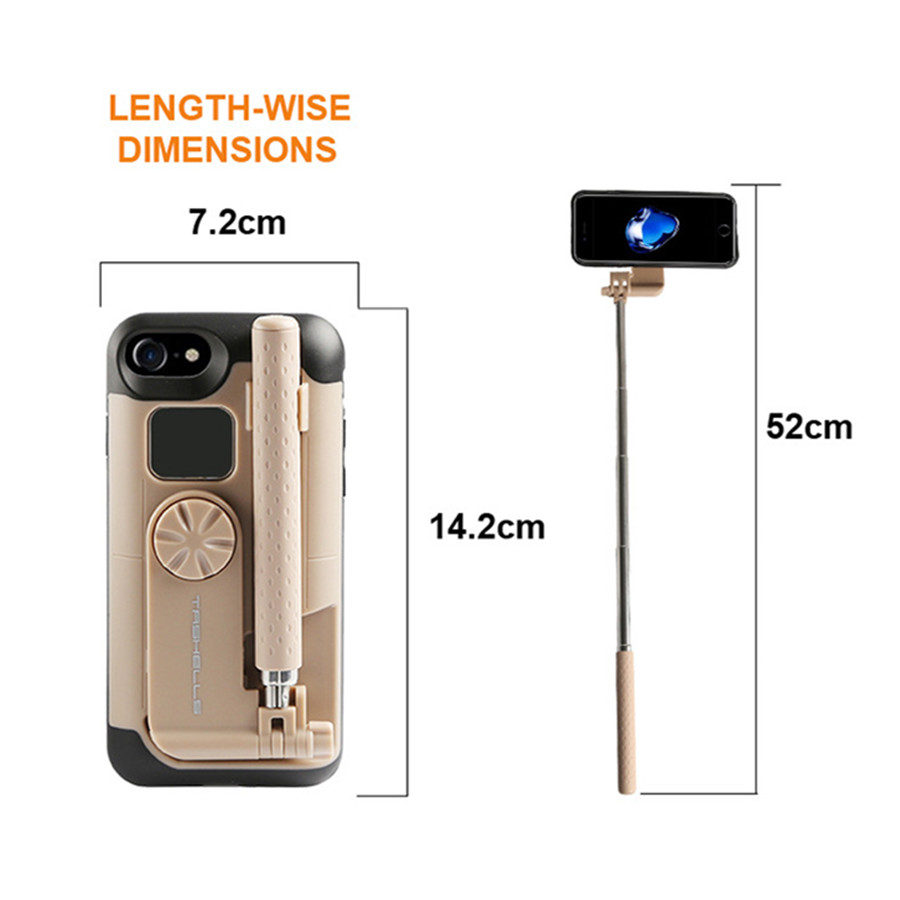 Adjustable selfie stick for iphone