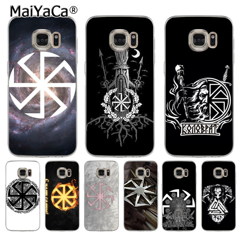 US $1 35 48% OFF|MaiYaCa Slavic Viking symbol Kolovrat Luxury transparent  soft Phone Case for samsung galaxy s7 s6 edge plus s5 s9 s8 plus case-in