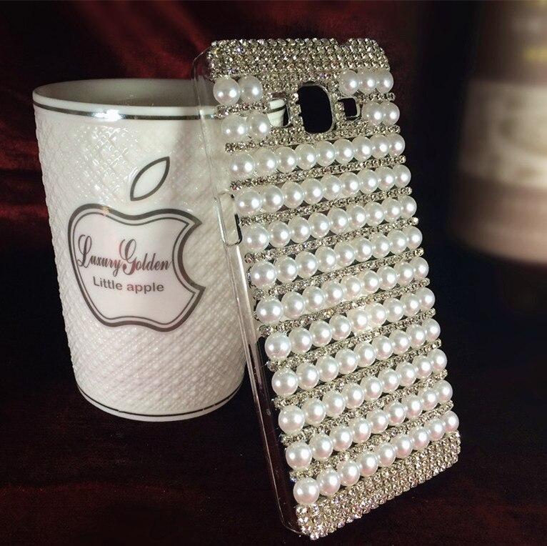 quality design a1086 31f77 US $8.88 |Luxury Stylish Rhinestone 3D White Pearls Hard Case Cover for  Samsung Galaxy J7 J700H J700F J700 Case free shipping on Aliexpress.com |  ...