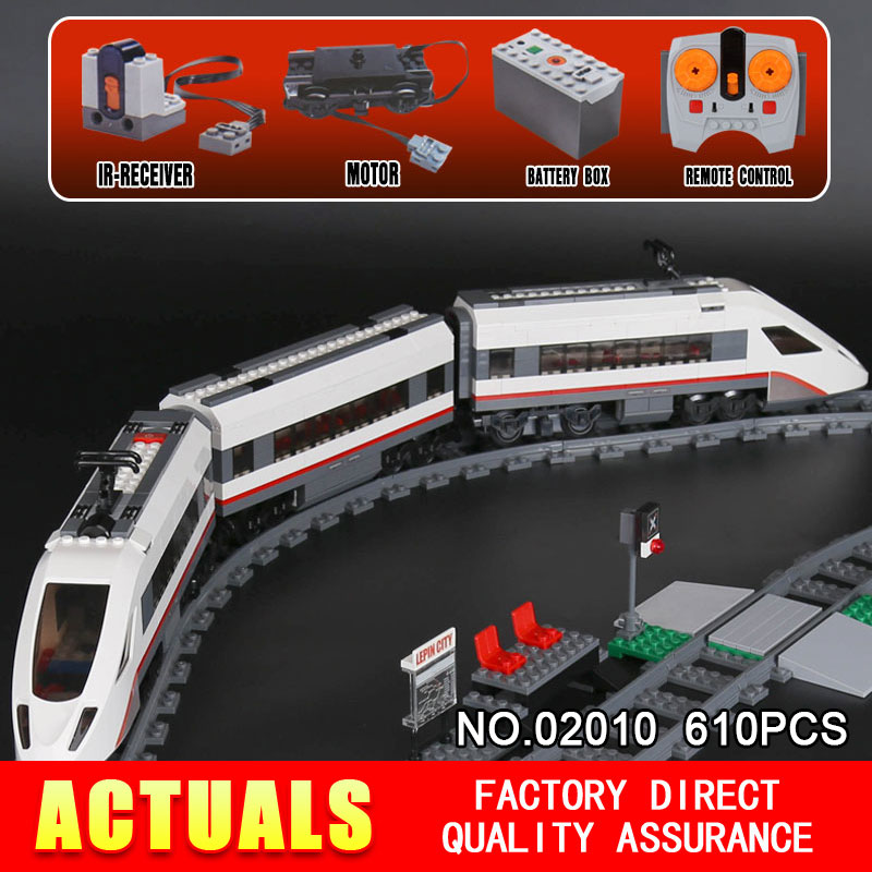 LEPIN 02010 610Pcs Creator Series The High-speed Passenger Train Building Remote-control Trucks Set Blocks Bricks Toys 60051 lepin 02010 610pcs city series building blocks rc high speed passenger train education bricks toys for children christmas gifts